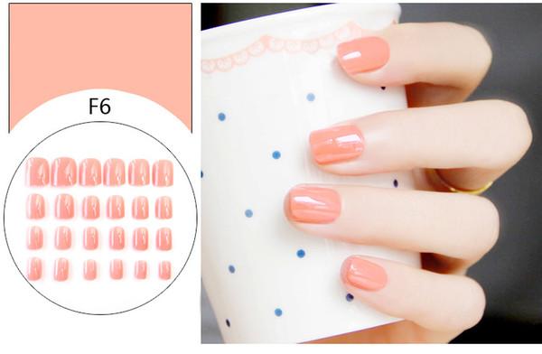 Faux Ongles Astuces Appuyez sur Gel de Manucure Polonais Faux Astuces Nail Art Design Ongles artificiels de courte durée Conception en extension