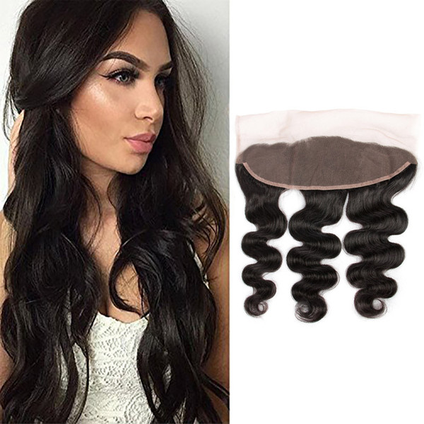 Indian Raw Virgin Remy Hair 9A Body Wave Lace Frontal 13X4 Closure With Baby Hair 50-80g/piece 13X4 Lace Frontal