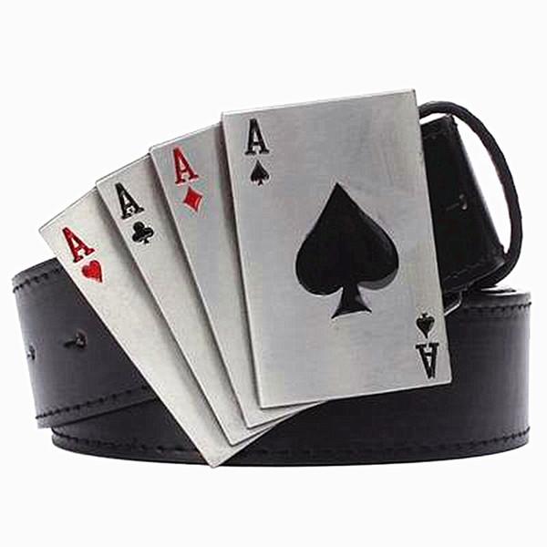 Acquista Cintura Punk In Metallo Stile Rock Lucky Poker Gamble Fibbia In Metallo Fibbia Cintura Da Gioco Fortunato Punk Hip Hop Decorativo A $19.57