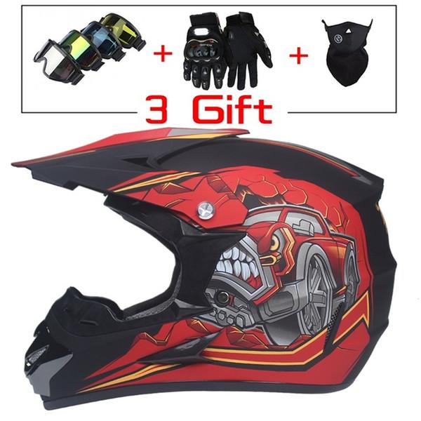 Compre Super Light Helmet Motociclismo Racing Casco De Bicicleta Niños De Dibujos Animados Atv Dirt Bike Descenso Mtb Dh Cross Casco Capacetes 004 A