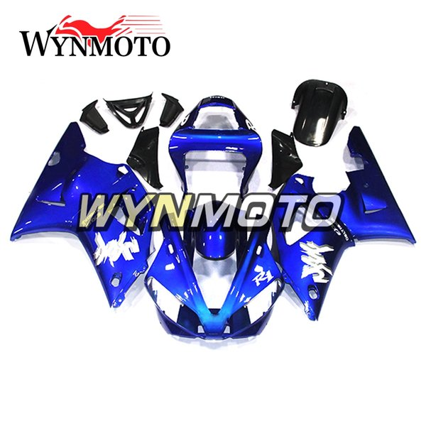 Full Fairings For Yamaha YZF1000 R1 2000 2001 00 01 ABS Plastics Injection Motorbike Body Frames Blue Cover YZF R1 00 01 Panels