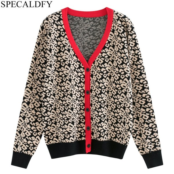 Les femmes à manches longues Cardigan Loose Sweater Outwear Jacket New Sweater Top