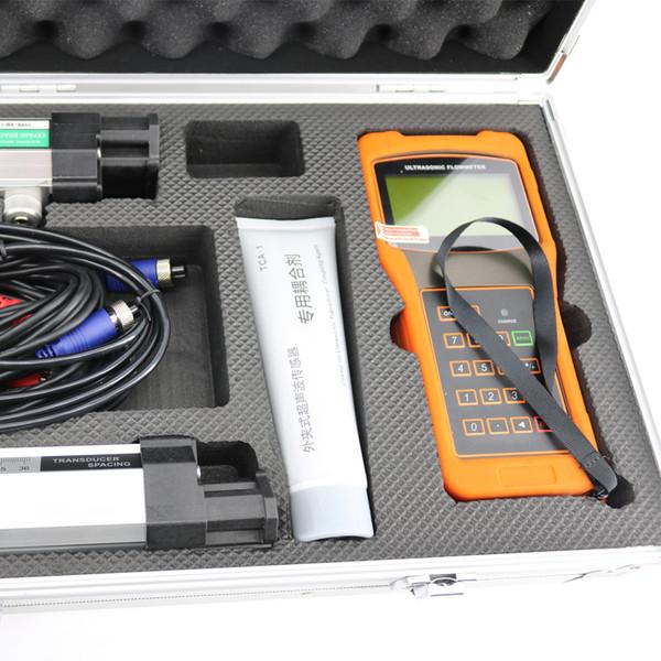TUF-2000H Combined Equipment Hand-Held Portable Ultrasonic Flowmeter Digital Flow Meter DN50-6000mm with HM Bracket