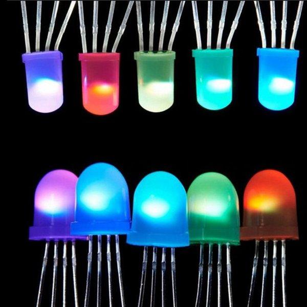 Miglior prezzo 2 ~ 1000 Pz IC APA106 F8 8mm / F5 5mm Rotondo RGB Full Color Neo pixel Arduino Chip led glassato (come WS2812B) 5V