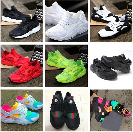 top popular 2018 Air Huarache Ultra Running Shoes For Men Big kids Women,Woman Mens Black White Air Huaraches Huraches Sports Sneakers Athletic Trainers 2019