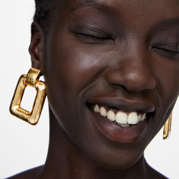 Mamojko Square Statement Earrings for Women Fashion Drop Dangle Earring Wedding Gift Vintage Jewelry Gifts Wholesale