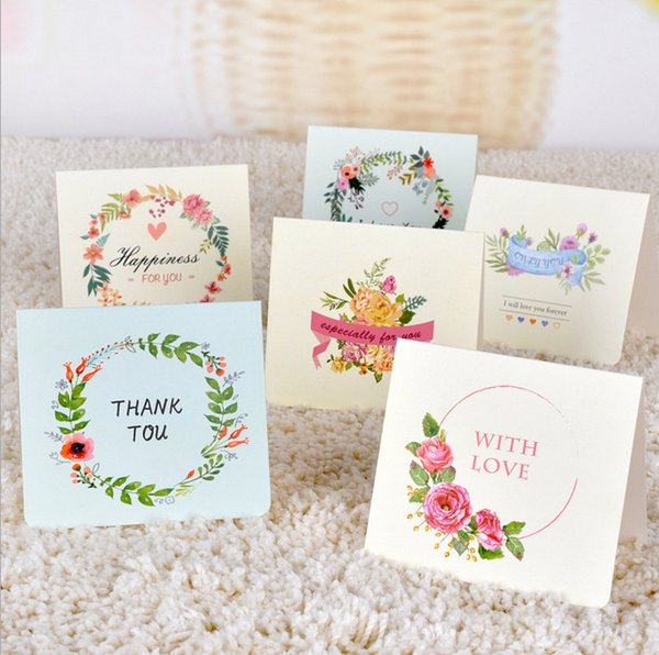 50pcs/lot 2017 Kids Greeting Cards Birthday Cards Cute Happy Birthday Only YOU Thank You Cards