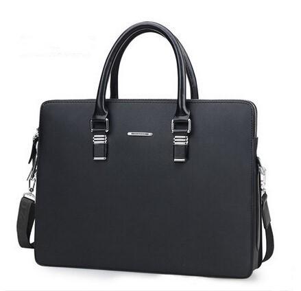 Valigetta semplice uomo in pelle valigetta solido uomo d'affari borsa per laptop borsa per computer MacBook per gli uomini