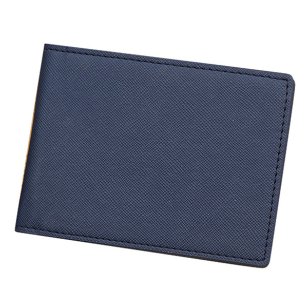 ISHOWTIENDA Men Wallet Short Skin Wallets Purses PU Leather Money Clips Solid Thin Wallet For Men Purses #XTJ