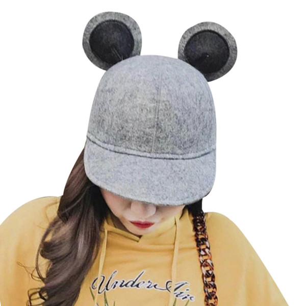 2018 Summer Bear Ears Hip Hop Trucker Hat Branded Baseball Caps Snapback Dad Hats For Women Girls Full Cap Bone Gorras Mujer