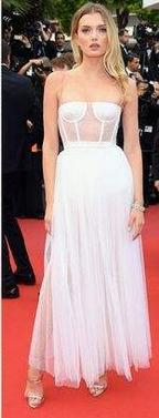 Evening dress Long Dress Sleeveless Strapless Tulle White A-Line Modern Classic popular All sizes can be customized
