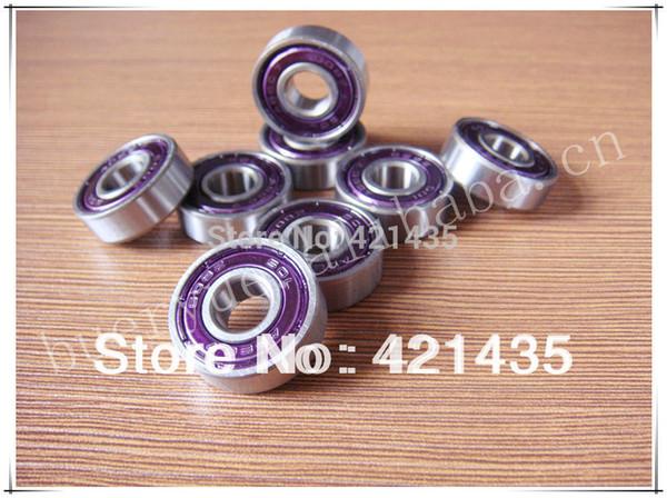 74L-23 Free shipping Skate bearing skate bearing part 608 ZZ high precision ABEC-7 longboard inline purple double shield