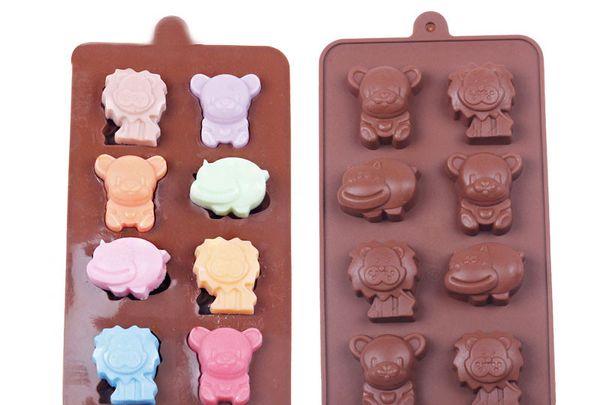 Compre Dhl 100 Unidades Hipopótamo Oso De León Molde De Silicona Jalea Chocolate Jabón Decoración De Pasteles De Cocina De Bricolaje Utensilios