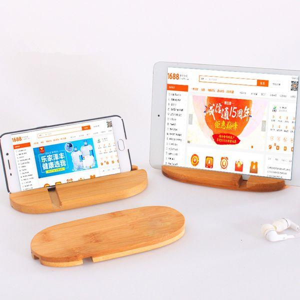 Bambou Naturel Support de Téléphone Pour iPhone X 6 6S 8 7 Plus Support de Téléphone Mobile pour iPad Stand Tablet Accessoires LX1081