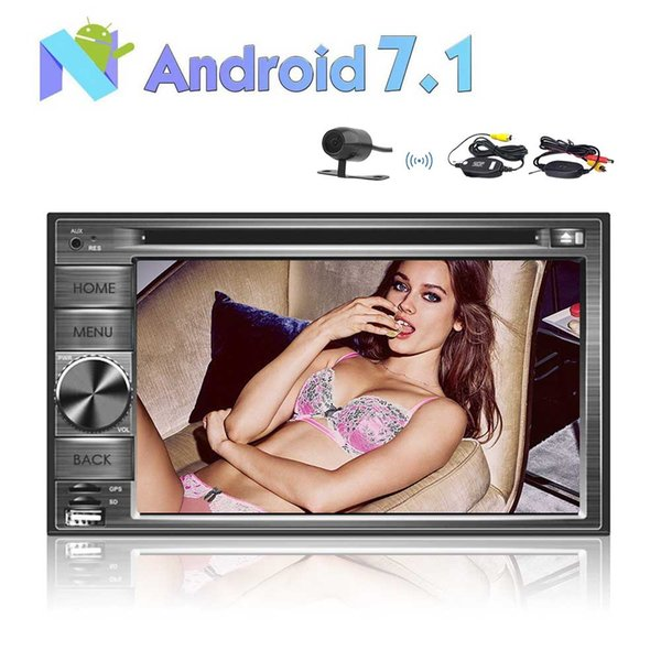 2GB+32G 8Core 6.2'' 2 Din Android 7.1 Car Stereo Radio Muti-touch Screen GPS Navigation car DVD Player WIFI Bluetooth Mirror Link