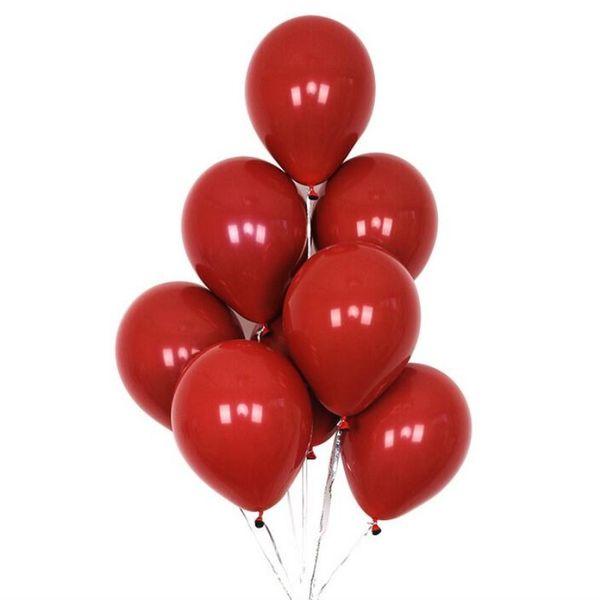 Новое прибытие 30 шт./лот10 дюймов двойной слой гранат красный шар день рождения украшения для взрослых баллоны свадебные шары игрушки