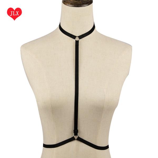 Hot 2016 Sexy Women Pastel Goth Garter Belt wedding Punk Cage Bra Erotic Lingerie Body Harness Bralette Bondage Suspender