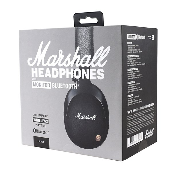 Marshall Monitor bluetooth wireless Headsets audio helmet On Ear Wireless Headphones - Black
