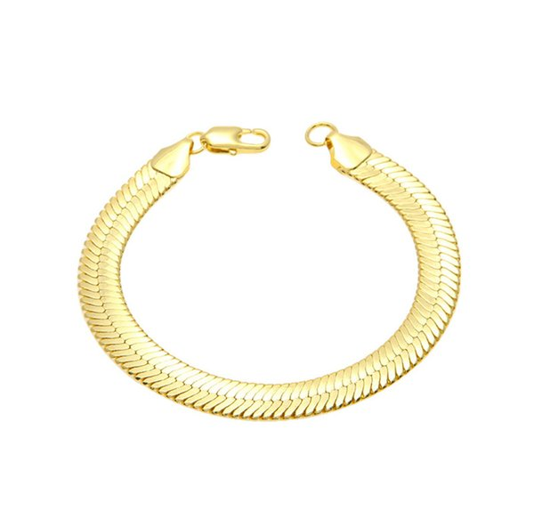 Hot Sale Bracelets 11MM Cuban Hiphop For Men And Women Brand New Top Quality 18K Gold Filled Link Chain Fine Jewelry Free Shipping
