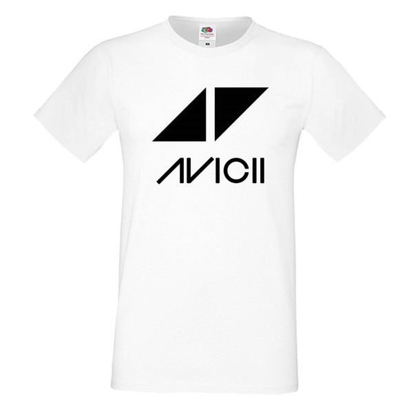 1850d0be MEN White T-SHIRT Avicii 1 DJ Music Festival Tee Funny free shipping Unisex  Casual