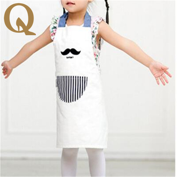 2017 essential household pure cotton apron apron Bib thickened antifouling cartoon baby pinafore beautiful little princess.
