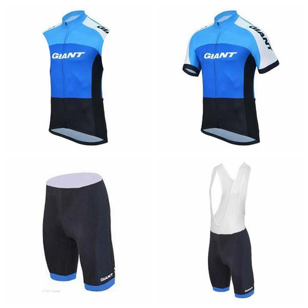 GIANT équipe cyclisme manches courtes jersey (bavette) shorts sans gilet ensembles vente chaude jersey de cyclisme Ropa Ciclismo taille à séchage rapide XS-4XL A41407