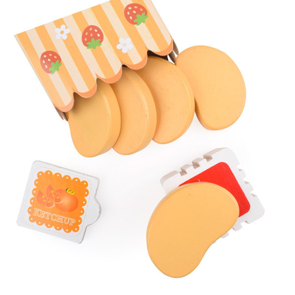 New Arrival Strawberry Pretend Play And Dress Up Kitchen Toys Simulation Chicken Nugget Flavoring Roasted Toy Suit 6 5yw W
