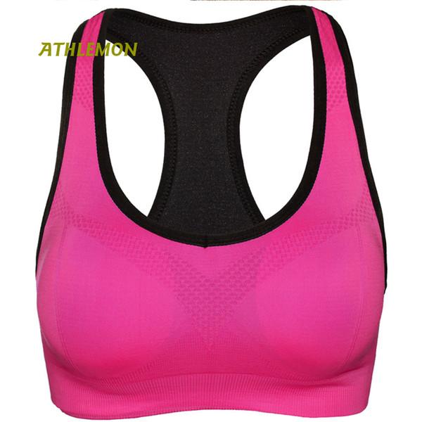 Womens Activewear Tops de Fitness Sutiã Esportivo Underwear Respirável Sutiã Esporte Push Up Sportswear Ginásio Execução de Treino de Yoga Mulheres