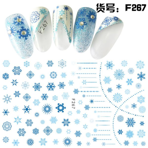 Yinikiz New 1 Pcs Nail Sticker Flower Patterns Nail Tattoos Designs Manicure Accessory 3D Waterproof Art Decal