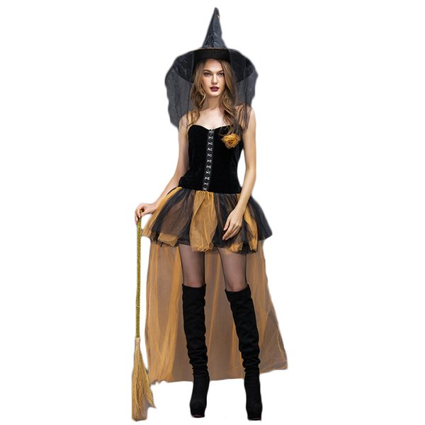 Cosplay Witch Halloween Costumes for Women Anime Cosplay Dress Party Halloween Costume Women Fancy Dress With Hat disfraz mujer