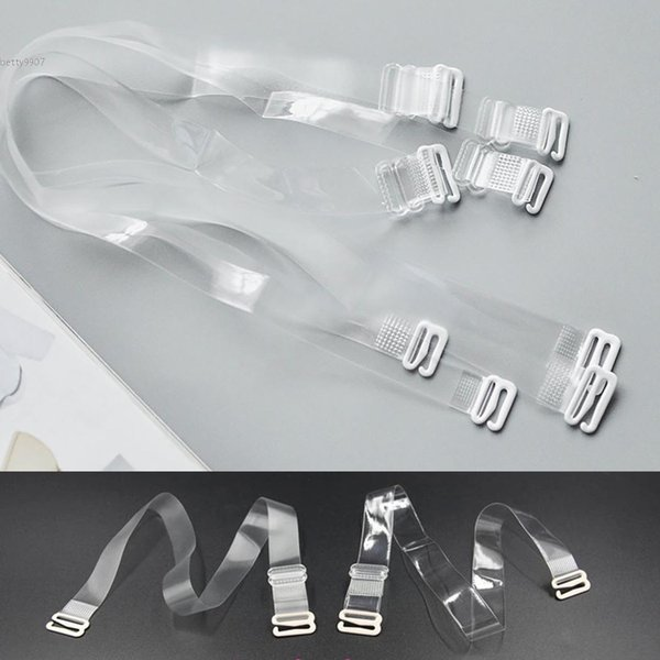 Adjustable Detachable  Hook WHITE  Bra Straps Replacement  1 Pair