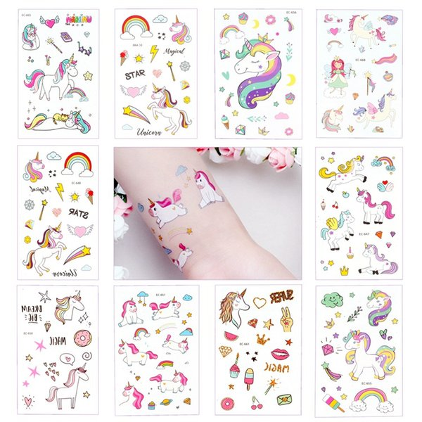 Cute Disposable Tattoo Sticker Unicorn Party Decor Baby Unicorn Birthday Party Favors Temporary Unicorn Party Supplies