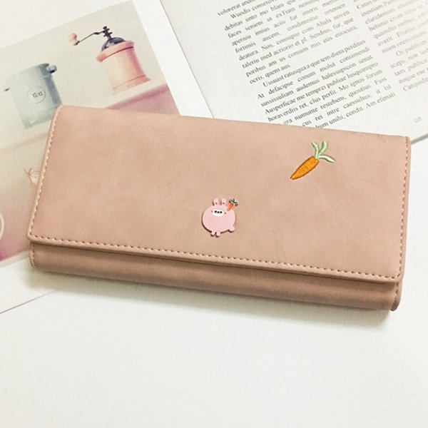 3d5822597476 2018 Women Fashion Leather Hasp Tri Folds Wallet Portable Lovely Animal  Long Change Purse Hot Female Coin Zipper Clutch For Girl Visconti Wallet ...