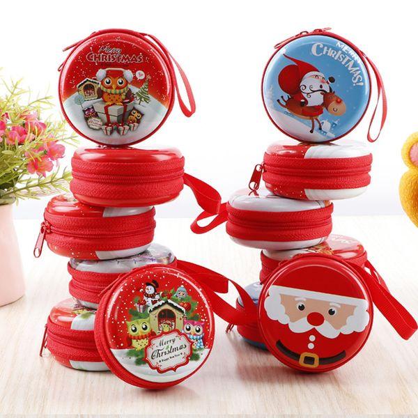 Decorazioni natalizie, albero di natale di natale appeso ornamenti, caramelle coin cuffia usb caricatore chiave borsa di stoccaggio borsa di latta per bambini giocattolo 0278