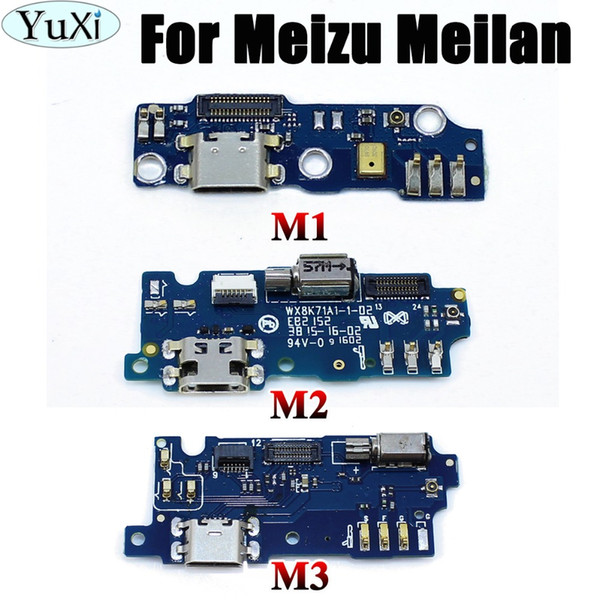 YuXi For Meizu for Meilan M1 M2 M3 USB Port Plug Charger Board+Microphone Module Flex Cable Dock Connector Meilan 2 3 1