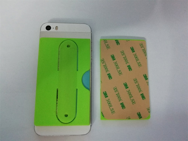 OEM wholesale side of the mouth open 3M sticker adhesive smart wallet Custom Logo touch-u silicone cell mobile phone case stand card holder