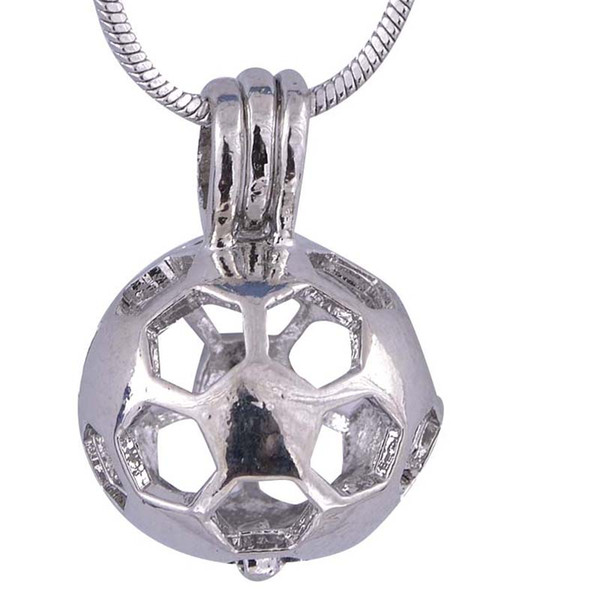 Ball Circular Type Silver Plated Soccer Ball Cage Pendants Hot sale For Christmas gift For Women Jewelry P52