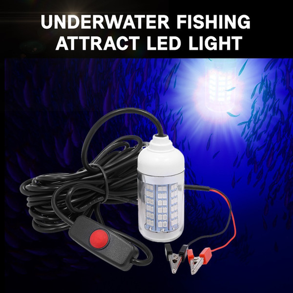 12V 15W Fishing Light 108pcs 2835 LED Underwater Fishing Light Lures Fish Finder Lamp Attracts Prawns Squid Krill (2 Colors )