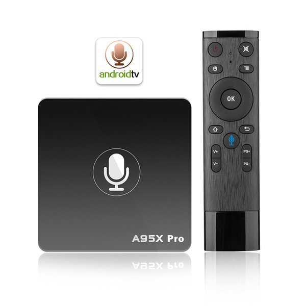 Google Voice Control Android TV Box A95X Pro S905W 2G 16G Smart TV Streaming Box Android7.1 IPTV Smart Media Player
