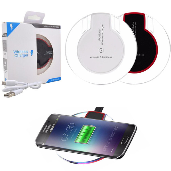 best selling High Quality Wireless Charger Qi Standard Charging Pad Fantasy Charging Adapter For iPhone 8 X For Samsung Galaxy S6 S7 S8 Note 8