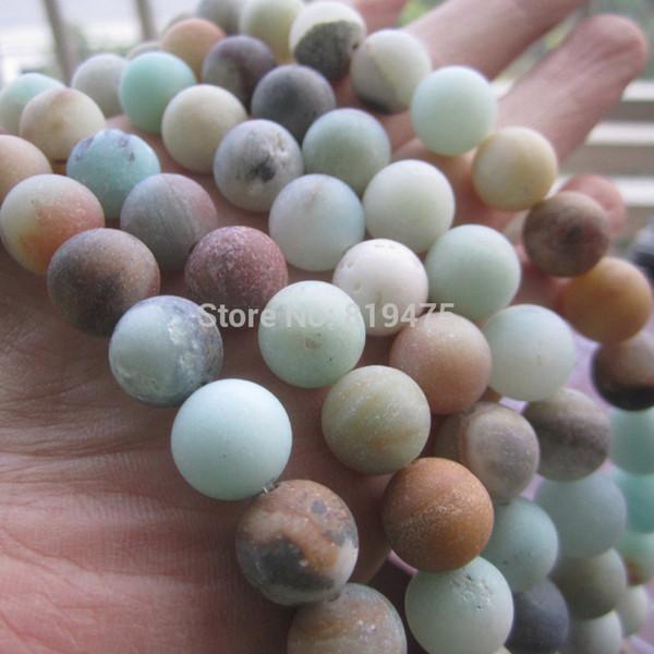 4mm 6mm 8mm 10mm Matt Naturel Amazonite perles en pierre Forêt Perles en vrac 1 chaîne environ 40cm en gros