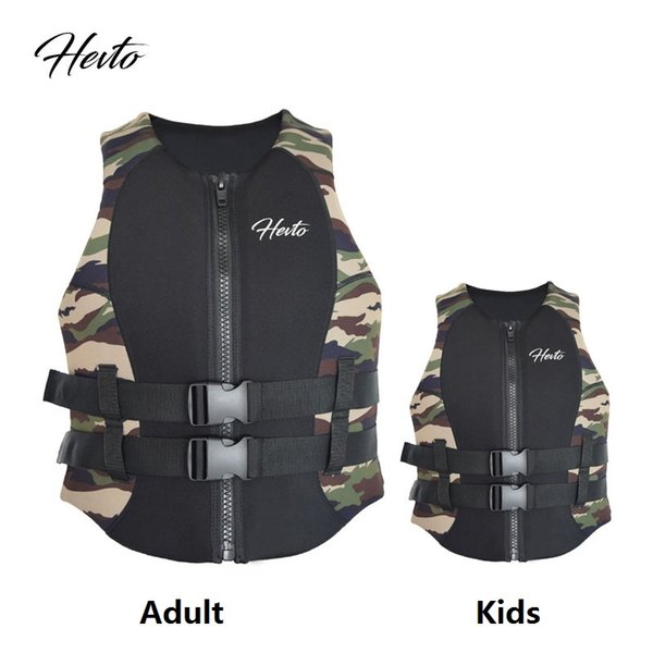 Adulti Bambini Life Vest Jacket Life Neoprene Giacca galleggiante Parents and Kids Bambini Rafting Surfing Swimming Vest