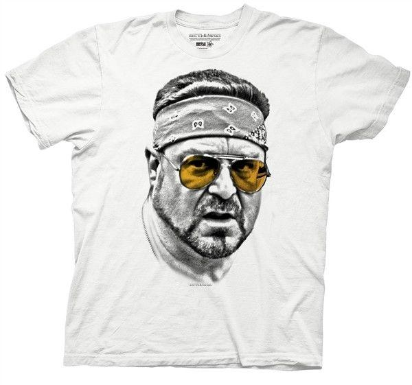 Big Lebowski Walter Orange Glasses mens t-shirt New Mens Spring Summer Dress Short Sleeve Casual Mens Short Sleeve Tees