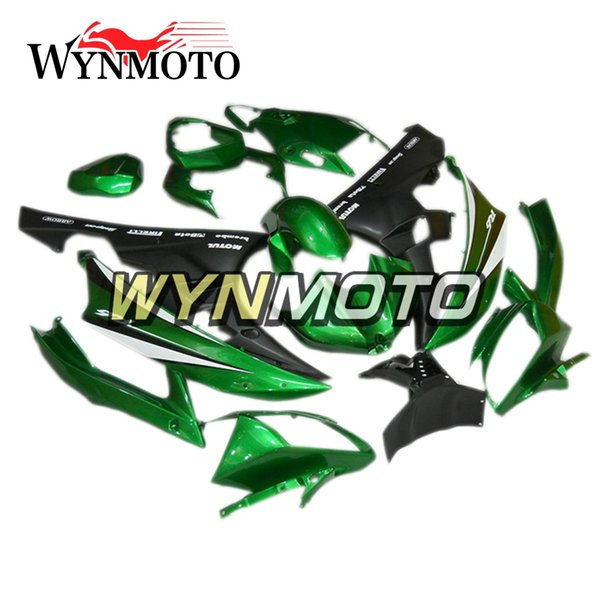 ABS Plastics Motorcycle 2006 R6 Full Fairing Kit For Yamaha YZF600 R6 YZF-600 2006 2007 Injection Bodywork Cowlings Green Flat Black Covers