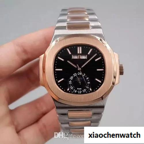 2018 LUXURY WATCH high quality calendar watch automatic mechanical mid rose gold stainless steel strap nautilus mens Wristwatches watches