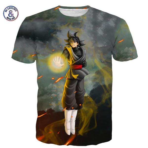 Compre O Neck Verão Masculino Mulheres Dragon Ball T Shirt Naruto 3d Camiseta Dos Desenhos Animados Anime Dragon Ball Imprimir Manga Curta T Shirt