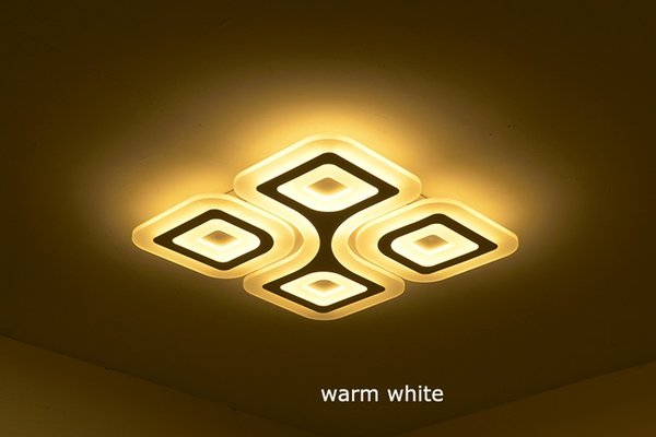 LED Super-thin Ceiling Lamps 4/6Heads Modern Living room Ceiling Light Rectangular Bedroom Luminaire Restaurant Lighting
