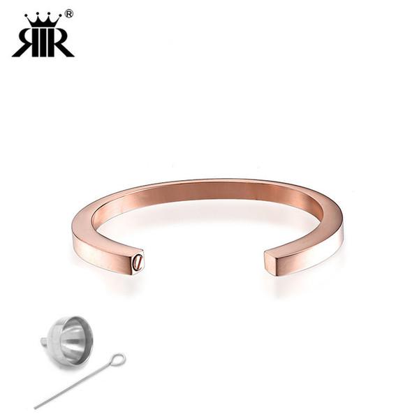 RIR Five Colors Stainless Steel Cremation Bracelet Ash Urn Bangle Free Laser Engraved Popular Cremation Jewelry Unisex