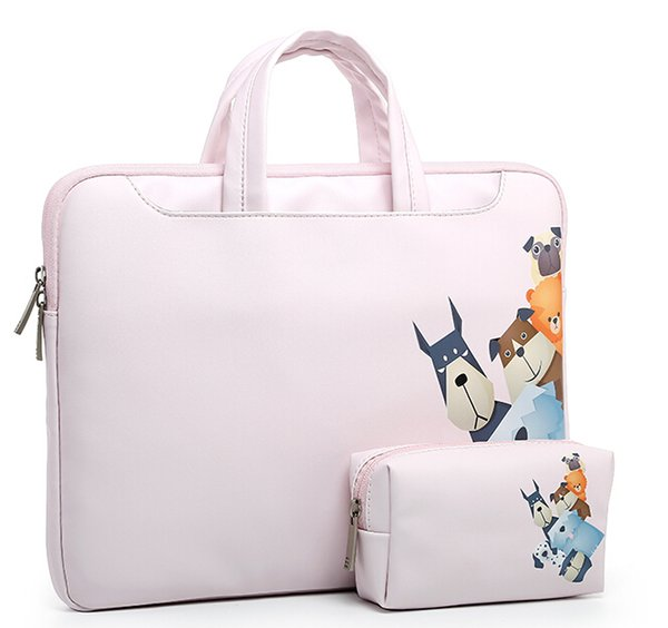 2018 Fashion new PU waterproof Scratch-resistant Laptop handbag 13 14 15inch Notebook Shoulder Carry Case for MacBook Air