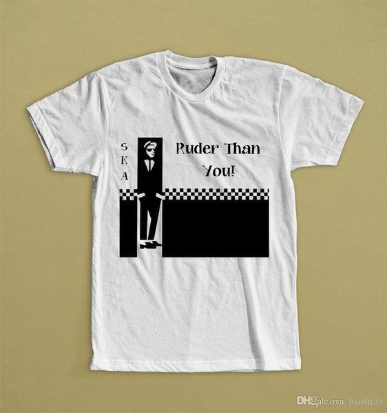 RUDER ALS SIE WEIß T-SHIRT SKA BAND JEFFRIES FAN CLUB SUBLIME Lose Baumwolle T-Shirts für Männer Coole Tops Brief drucken